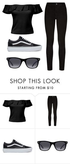 """""""01♡"""" by elig04 on Polyvore featuring moda, LE3NO, Paige Denim, GlassesUSA, outfit, vans, women, woman y blackoutfit"""