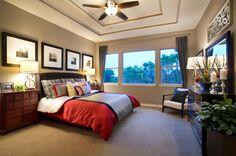 Venado Creek(2900) Master Bedroom Model Homes, Guest Room, My House, Comforters, Bedrooms, Blanket, How To Plan, Live, Flowers