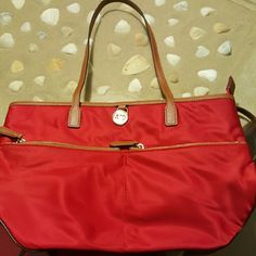 Michael Kors Nice NWOT handbag 14x10x10. Red. Great for summer. Michael Kors Bags Shoulder Bags