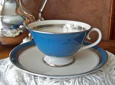 Teacup and Saucer Flintridge China by cynthiasattic on Etsy, $23.00