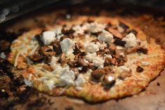 Tomorrow is National Mushroom Day! Grab these simple ingredients and some #pellegrino and make a perfect dinner party to celebrate the #mushroom #pizza #foodie #girlsnightout #foodiefriday