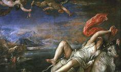 Peter Paul Rubens, The Rape of Europa. One of the images on Arachne's tapestry Italian Renaissance Art, Renaissance Kunst, Renaissance Paintings, Peter Paul Rubens, Most Famous Paintings, Michelangelo, Pedro Pablo Rubens, Gardner Museum, Greek Mythology