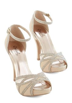 Glitz All for You Heel in Beige. You treat every walkway like a runway when youre strutting in these beige heels! Ankle Strap Shoes, Peep Toe Shoes, Shoes Heels, Retro Vintage, Vintage Heels, Special Occasion Shoes, Beige Heels, Cream Shoes, Prom Heels