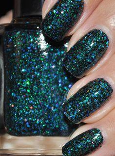 Sea Creature Blue and Green Glitter Nail Polish by TheHungryAsian, $9.25