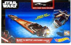 Hot Wheels Star Wars Darth Vader Blast Battle Lightsaber Launcher Disney ages 4+    eBay