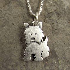 Westie necklace. via Etsy.