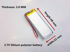 3.7V rechargeable lithium polymer battery 302248 MP3 / 4/5 Bluetooth radio battery monitor #Affiliate