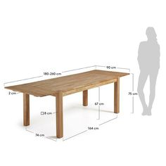 Table extensible Isbel 120 x 75 cm - Kave Home Solid Oak Dining Table, Extendable Dining Table, Dining Bench, Dcor Design, Interior Design, E Piano, Table Extensible, Table Bar, Table Haute