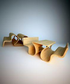 Multi-purpose Wood Bench Tomasz Chmielewski