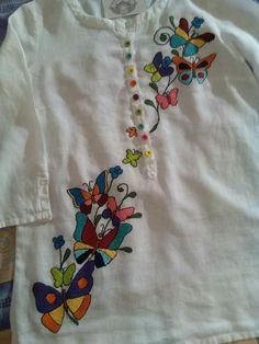 Discover thousands of images about Embroidered love birds Blouse Embroidery Suits Punjabi, Embroidery On Kurtis, Hand Embroidery Dress, Kurti Embroidery Design, Embroidery Fashion, Saree Blouse Neck Designs, Neckline Designs, Kurti Neck Designs, Dress Neck Designs