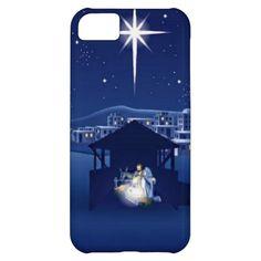 Silent Night Manger Scene Christmas iPhone 5c Case. #christmasiphone5cases