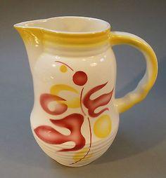 Art Deco Keramik Kakaokanne Kanne Spritzdekor um 1930