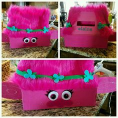 Ideas For Decorating Valentine Box Trolls Valentine's Box  Holidays  Pinterest  Box Holidays And