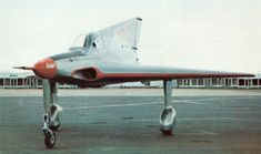 """Payen Pa 49 """"Katy"""" was a small experimental French turbojet powered tailless aircraft, first flown in was the first French aircraft of this kind. Military Jets, Military Aircraft, Ww2 Aircraft, Flying Wing, Drones, Experimental Aircraft, Bizarre, Aircraft Design, Aviation Art"""