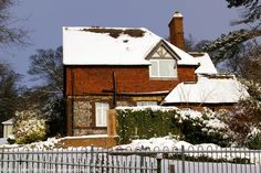 Victorian Park Keeper's Lodge under Snow, Connaught Park, Dover, Kent, England, UK. Location: Connaught Road and Park Avenue junction. The park is set on the hillside between Dover Castle and the town in the River Dour valley. It has tennis courts, children's play area, aviary, ornamental lake, flower beds, terrraced lawns, trees, and open grass slopes. A December 2010 Dover in Winter, Nature, Wildlife, Parks and Gardens, Recreation and Sports photo. See: http://www.panoramio.com/photo/87232...