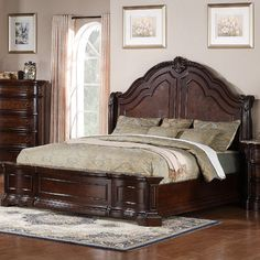 Shop Samuel Lawrence Edington Brown Master Bedroom Set with great price, The Classy Home Furniture has the best selection of Master Bedrooms to choose from Bedroom Furniture Sets, Bed Furniture, Furniture Design, Classic Bedroom Furniture, Wood Bed Design, Master Bedroom Set, Surf Bedroom, King Size Bedroom Sets, Kids Bedroom