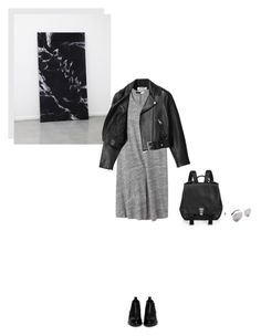 """on the edge"" by marissa-m-g ❤ liked on Polyvore featuring Acne Studios, Thakoon Addition, Alexander Wang, Proenza Schouler, Victoria Beckham, leatherjacket, backpack and minimalism"