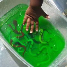 Snake Slime | A full week of Reptile & Amphibian Activities for Toddlers