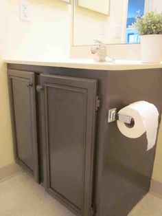 Bathroom Storage Diy Shelves Budget Ideas For 2019 Bathroom Wall Storage, Painting Bathroom Cabinets, White Bathroom Cabinets, Bathroom Paint Colors, Bathroom Flooring, Bathroom Ideas, Bathroom Modern, Kitchen Storage, Small Bathroom