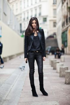 I have a split personality...one part of me loves ALL black, but the other part craves color...