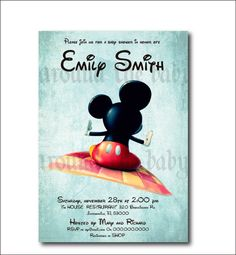 mickey mouse baby shower invitation you print by 800