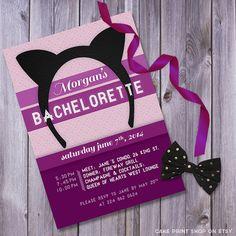 Cat, Bachelorette invitation, printable bachelorette, bachelorette invites, hen party invite, bachelorette invitation, bachlorette printable...