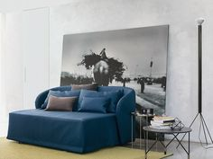 2 seater sofa with removable cover CÉLINE | Sofa bed - Flou