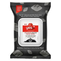 Yes To Tomatoes Detoxifying Charcoal Facial Wipes 30 ct : Target
