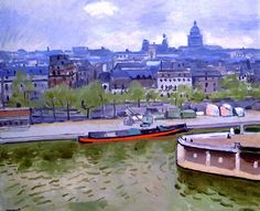 The Seine and the Pantheon Albert Marquet - 1932