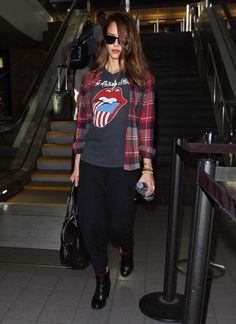 I just love a stones t-shirt under a flannel SOOOOOO 1993;)