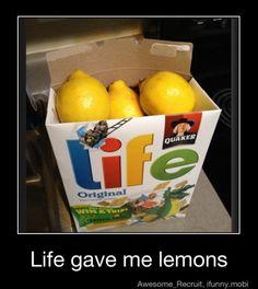 White elephant gift: When life gives you lemons, make lemonade... Include lemonade recipe
