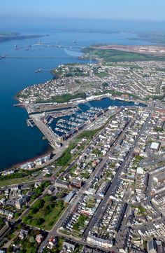 milford haven | MILFORD HAVEN WALES UK. (MILFORD HAVEN Pembrokeshire FROM THE AIR ... Awesome! Milford Haven, Oil Storage, Wales Uk, Snowdonia, British Isles, Far Away, Welsh, Fathers, Vacations