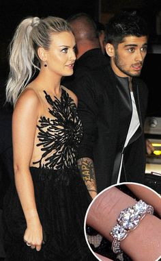 So happy for Zayn and Perrie<3 they're adorable!!! I love her ring!!!!:)