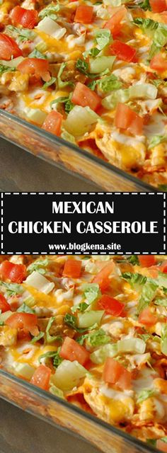 An easy Mexican dinner for just 300 calories per serving. You can even assemble it ahead of time, refrigerate, then bake just before serving...