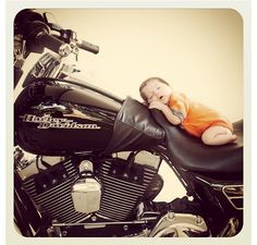 Harley Davidson Baby ~ great idea for photographers