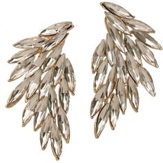 Luxe Wing Crystal Earrings and other apparel, accessories and trends. Browse and shop 8 related looks.