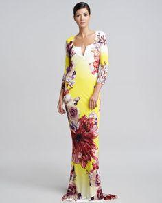 Roberto Cavalli Dresses Neiman Marcus Long Dresses Cavalli Floral