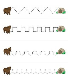медведь впадает в спячку Kindergarten Names, Preschool Curriculum, Preschool Worksheets, Preschool Activities, Woodland Animals Theme, Forest Animals, Baby Wild Animals, Tracing Sheets, English Lessons For Kids
