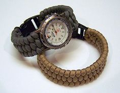 How to make paracord watch band or bracelets.