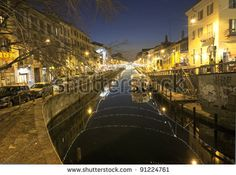 MILAN - DECEMBER 10: Inauguration of Christmas city lights at Navigli canals area on December 10, 2011 in Milan, Italy. - stock photo