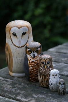 Owl matrushkas - MISCELLANEOUS TOPICS - Knitting, sewing, crochet, tutorials, children crafts, papercraft, jewlery, needlework, swaps, cooking and so much more on Craftster.org
