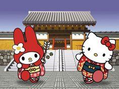 My Melody & Hello Kitty Hello Kitty Clothes, Hello Kitty Items, Sanrio Wallpaper, Hello Kitty Wallpaper, Hello Kitty My Melody, Sanrio Hello Kitty, Japan Illustration, Pochacco, Hello Kitty Pictures