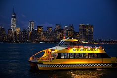 New York Water Taxi Statue at Night Tour - NY