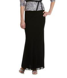 Alex Evenings Chiffon A-Line Skirt