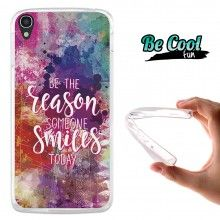 Capa Gel Alcatel OneTouch Idol 3 5.5 BeCool Razão para sorrir