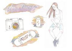 editorial illustrations.
