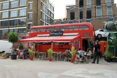 Rootmaster is an old, red double-decker bus turned vegan restaurant!