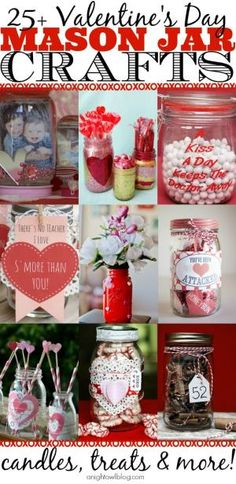 So many cute Mason Jar Valentines on this list! Such great ideas! by angelita