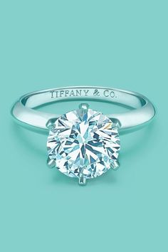 Tiffany's classic round cut diamond wedding engagement ring