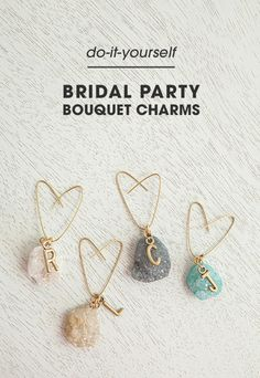 Great jewelry ideas for your bridesmaid gifts pieces they will wear how cute are these diy bouquet charms one for each bridesmaid and the bride solutioingenieria Choice Image